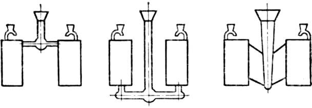 Схемы устройства литниковой