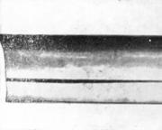 Трещина от остаточных напряжений на конце стального прутка