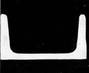 Швеллер не полностью сформированный при прокатке