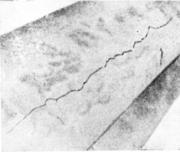 Продольная трещина на поковке вала