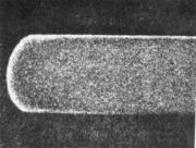 Распространение обезуглероживания по сечению горячекатаной стальной полосы
