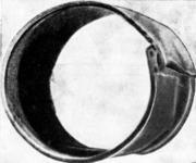 Закат, обусловленный заворотом металла (слишком большой наружный диаметр трубы)