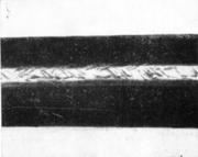 Отпечатки профилирования на поверхности прямошовной трубы