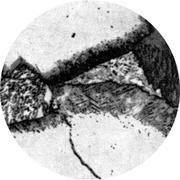 Микроструктура стали 10Х2М1 : феррит, карбиды, бейнит