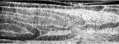 картинка закалочных шлифовочных термических трещин выполнено бежевого фатина